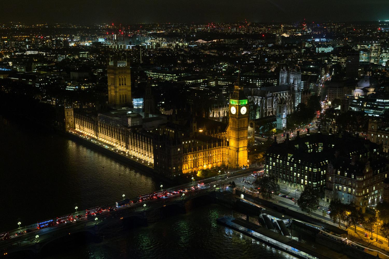 Big Ben et l'Abbaye de Westminster de nuit
