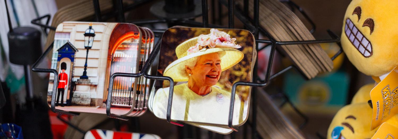 Elisabeth II sous-verre