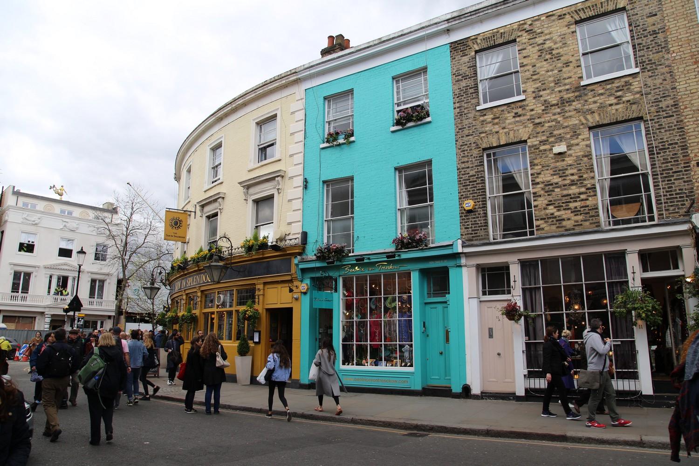 Notting Hill et ses façades colorées